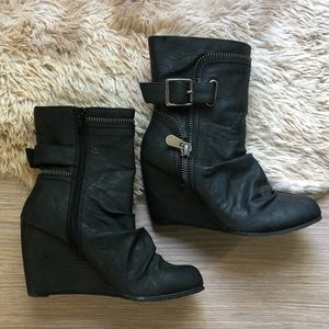 Blowfish Moto Heeled Booties
